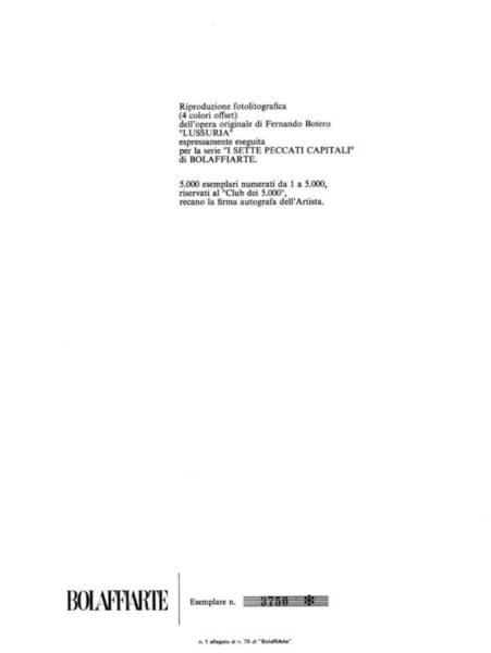 multipli d'arte contemporanea - certificato autenticità