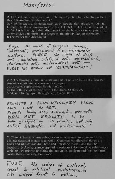 Fluxus manifesto