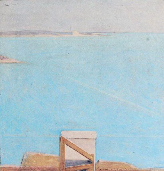 Piero Guccione, Tramonto a Punta Corvo, 1970